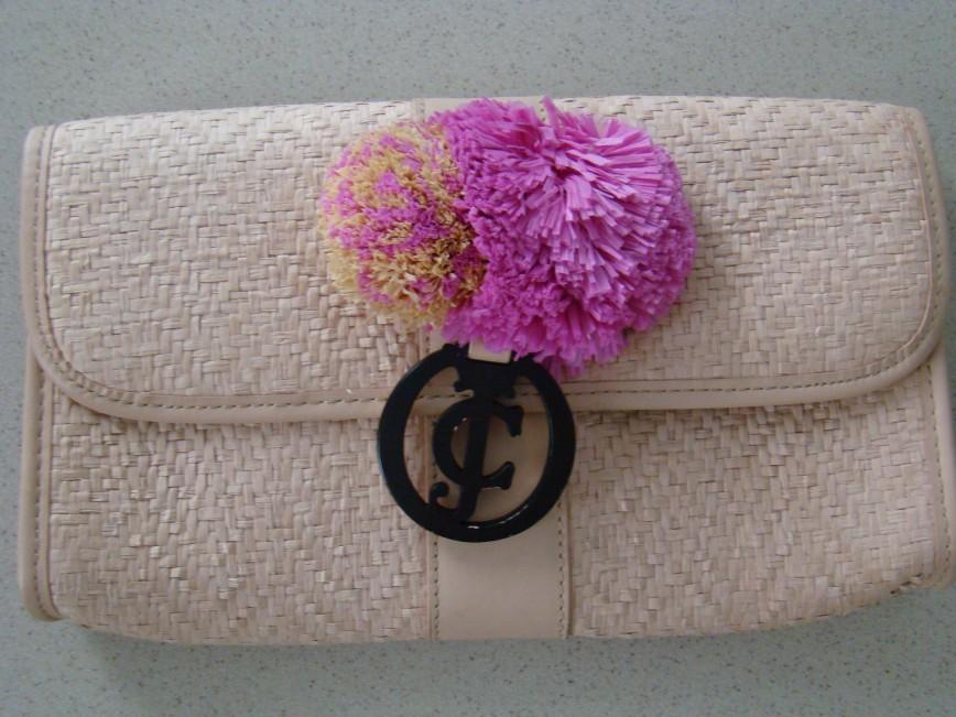Сумка клатч Jucy Couture,новая, соломка/ткань/нат.кожа. эффектно смотрится, привезена из США. 8500