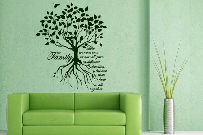 дерево рисунок на стене для детей
