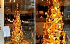 Рождественская ель из чистого золота