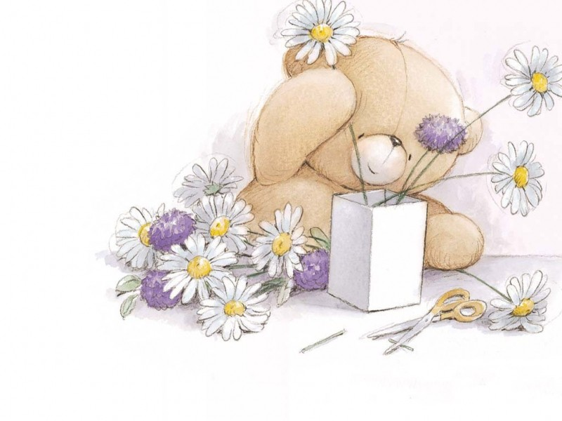 Рисунок на открытку с дне рождения, открытка