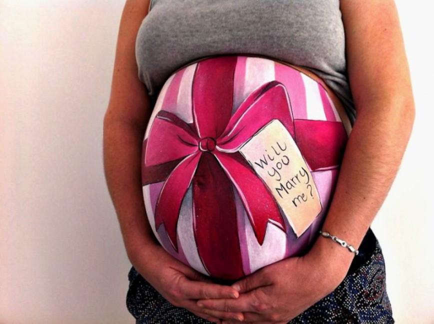 Картинки приколы беременных животиков