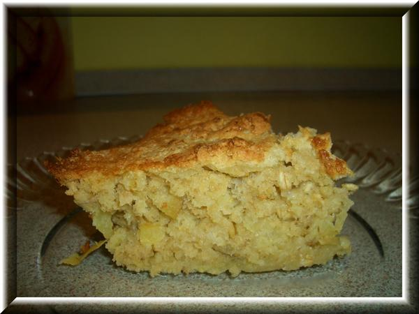 Запеканка из овсяных хлопьев с яблоками Пошаговый рецепт: http://domohozyaika.my1.ru/blog/2008-02-23-5