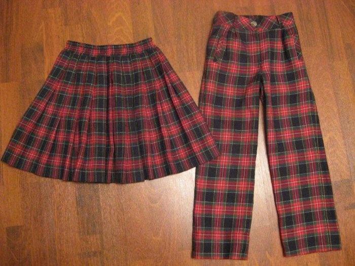 Школьная юбка в складку на резинке