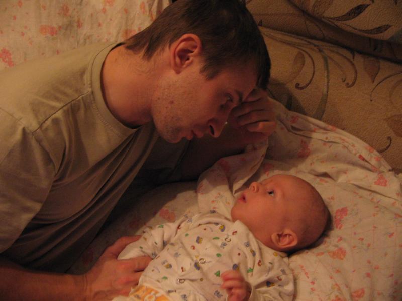 Мужской разговор (муж с сыном)
