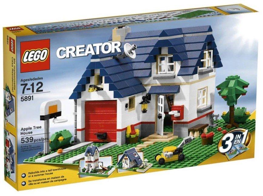 Конструктор LEGO Creator 5891 Загородный Дом. 539 деталей. Возраст 7-12 лет. 3 в 1 (три варианта домиков). Конструктора нет в продаже (снят с производства). 2500 р.