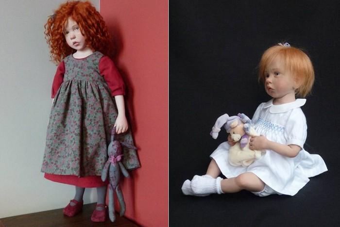 Фарфоровые девочки и младенцы.