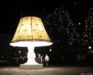 Огромная говорящая лампа в Мальме (Швеция)
