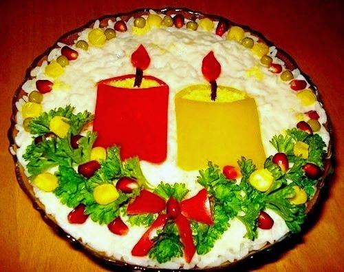 Оригинальный салат  на Новый год