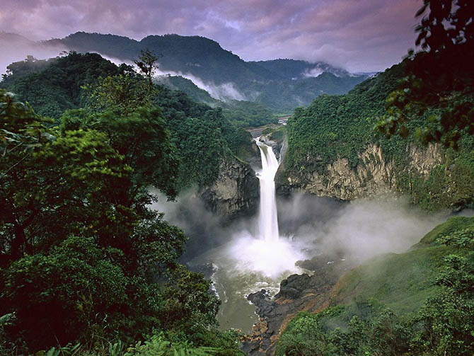 Красивейшие места мира: ождевые леса Амазонки в Южной Америке являются легкими нашей планеты. Они распростерлись на целый ряд стран континента и являются одним