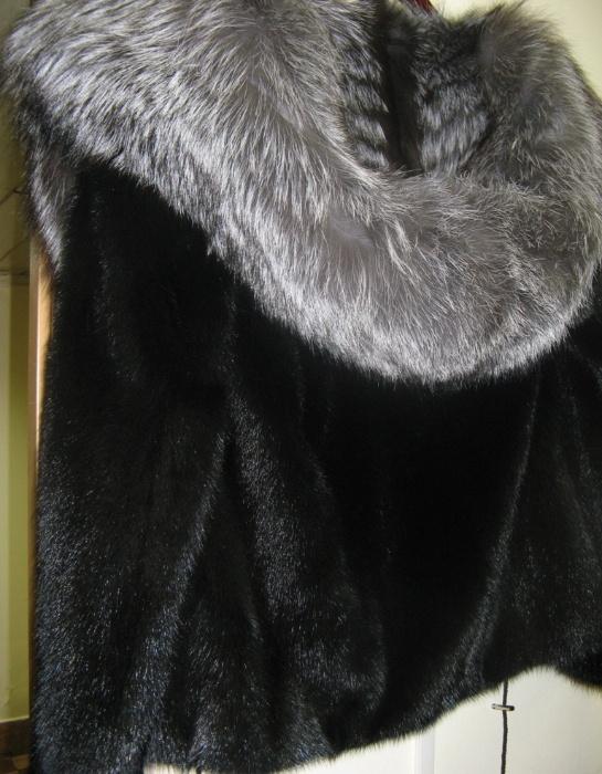 шуба из норки блек лама фото и цена