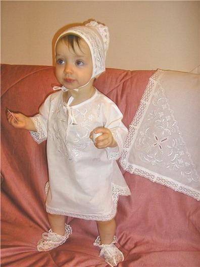 Наборы для крещения младенцев фото