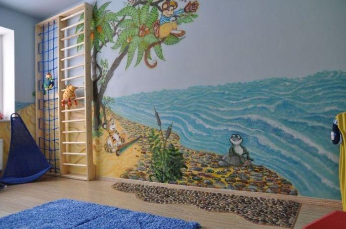 Игровая для детей. Роспись, потолок, мебель, и все-все работа Игоря (не с евы)