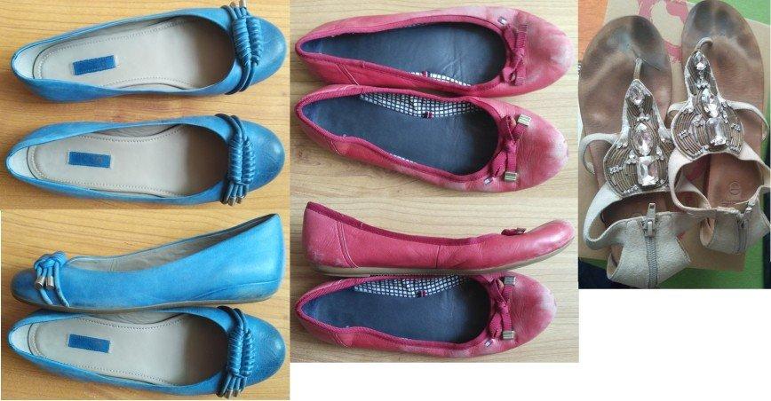БУ р.38 1500р пакетом р.38 балетки Экко отличное состояние р.38 красные туфли Томми Хильфигер убили снаружи в школе на сменку, целые все 3.38 Босоножки , все целые.