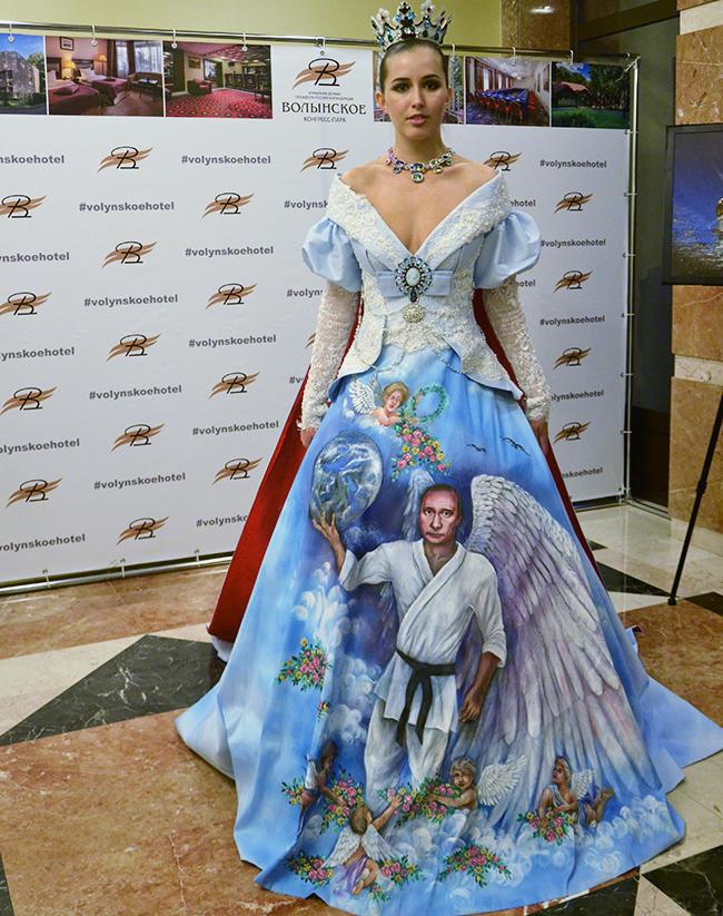 Платье с Путиным произвело фурор
