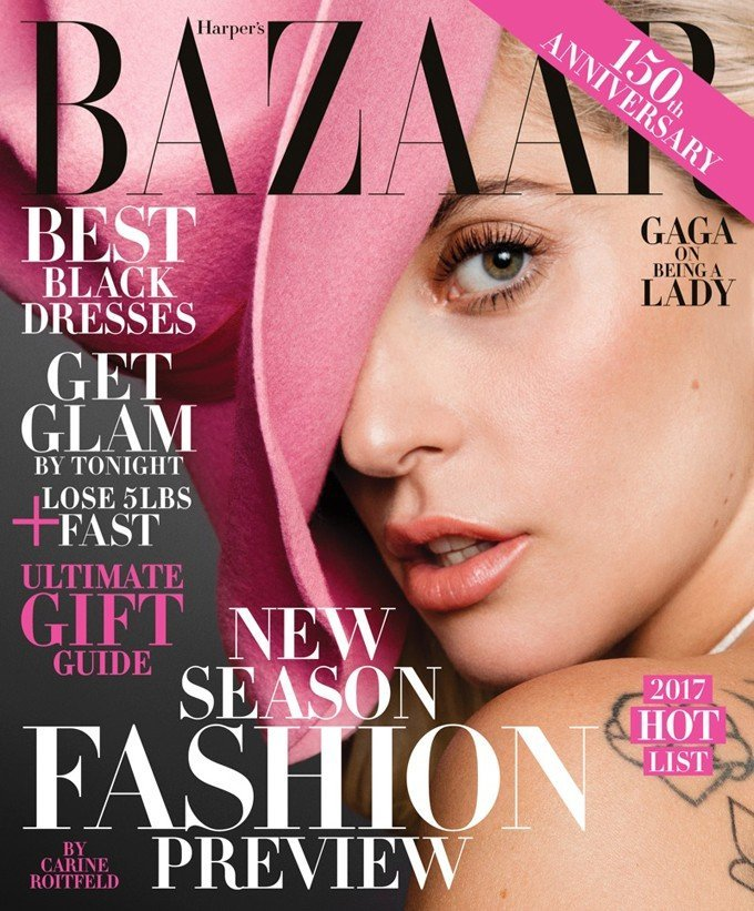 Скромная Леди Гага? В Harper's Bazaar