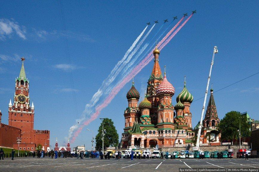 Москва на 9 Мая 2016