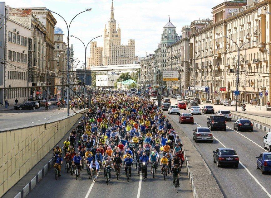 Велопарад на Садовом кольце приглашает москвичей