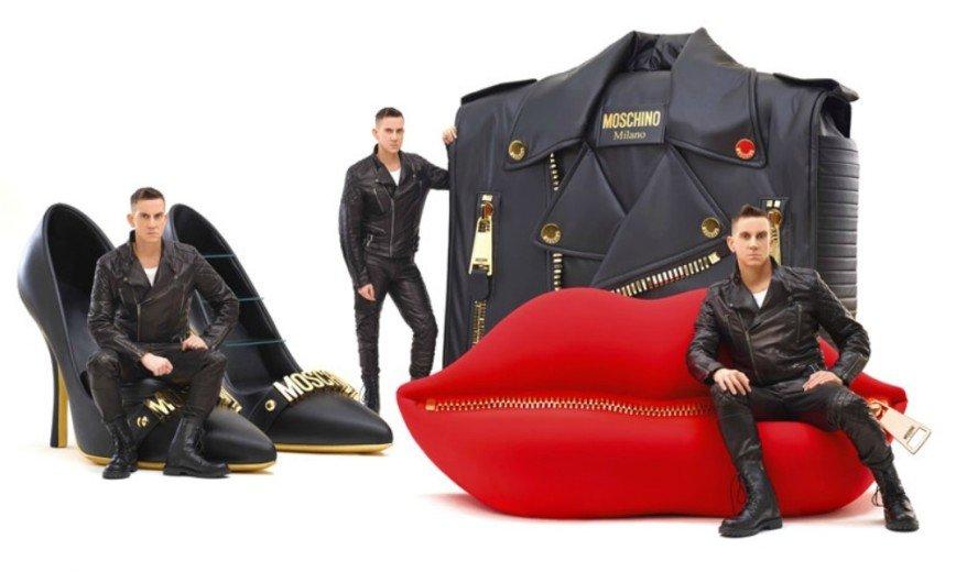 Туфли, губы и сумка - необычная мебель от Moschino