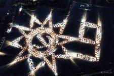 Хабаровчане составили Орден Отечественной войны из 500 автомобилей