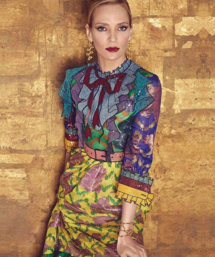 Ума Турман в Harper's Bazaar Mexico