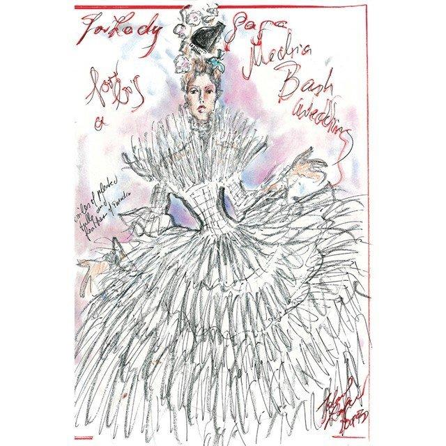 Дизайнеры создали эскизы свадебного платья Леди Гаги