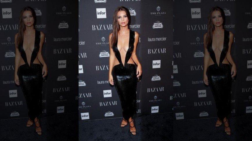 Платье Эмили Ратаковски вызвало раздражение у маститого ведущего