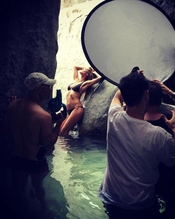 Хайди Клум снялась в рекламе фитнес-браслетов