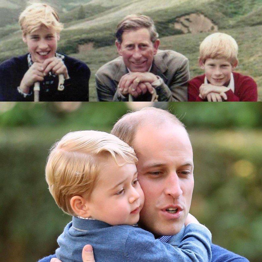 Фото принца Уильяма с сыном набрало немыслимое количество лайков