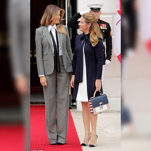"""""""Красивая во всем"""": Мелания Трамп встретила канадского премьера в мужском костюме"""