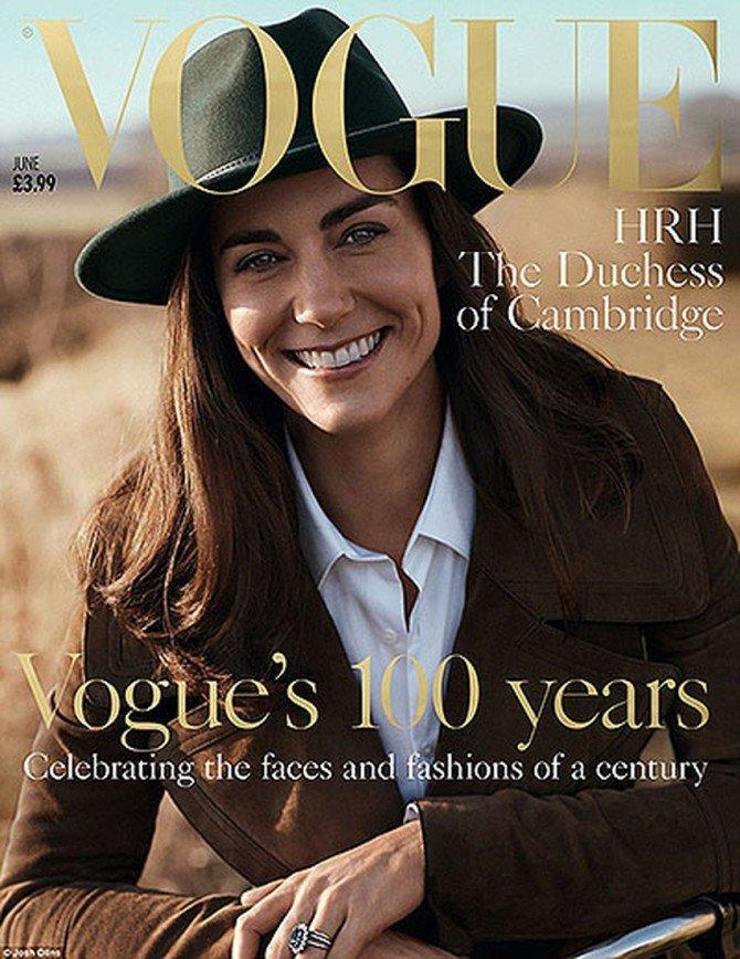 Кейт Миддлтон впервые появилась на обложке журнала Vogue