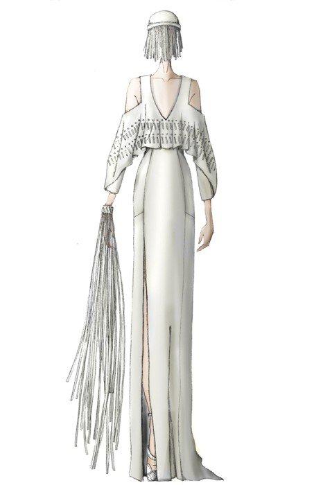 bb3e4e4dfb1 Дизайнеры создали эскизы свадебного платья Леди Гаги