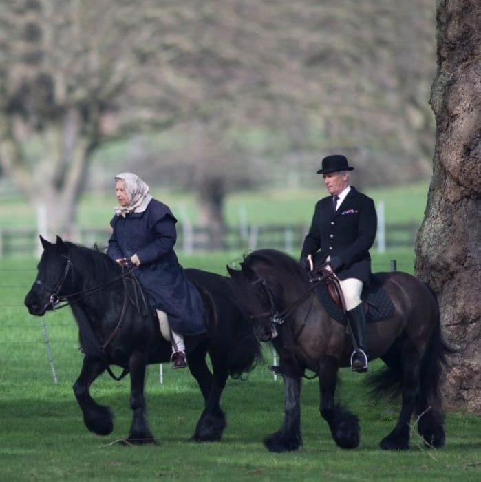 90-летняя королева  Елизавета II прокатилась на пони