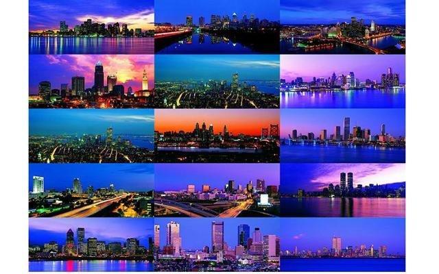 Панорамы ночных городов