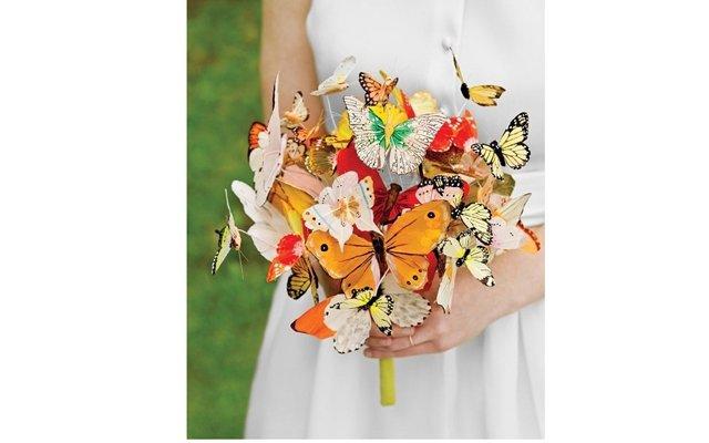 Оригинальные  необычные свадебные букеты