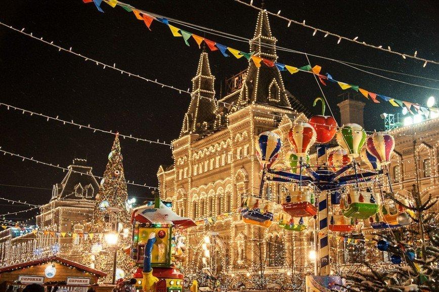 Московская рождественская ярмарка на Красной площади