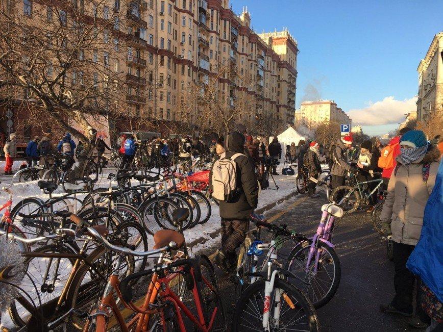 Зимний велопарад - безумству храбрых