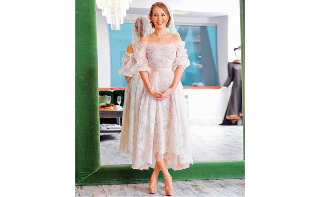 Ксения Собчак показала  свое свадебное платье