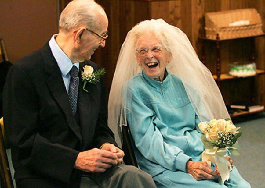 Смешные картинки жениха и невесты в старости