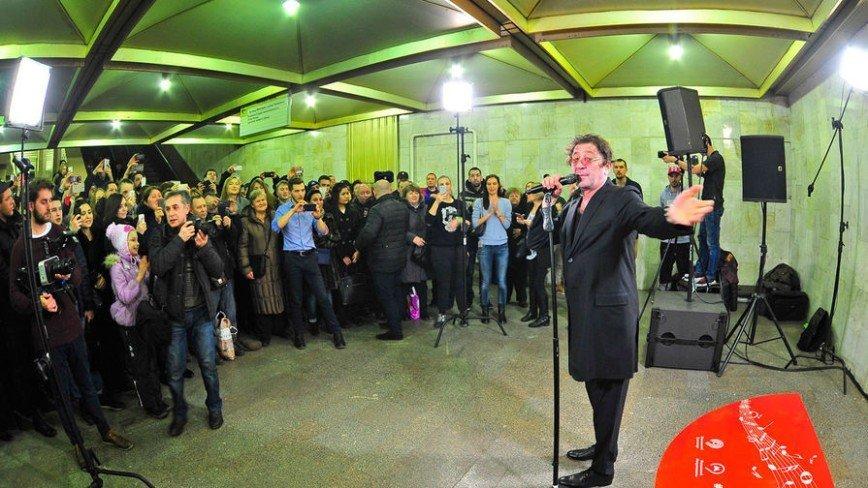 Лепс дал мини-концерт в московском метро