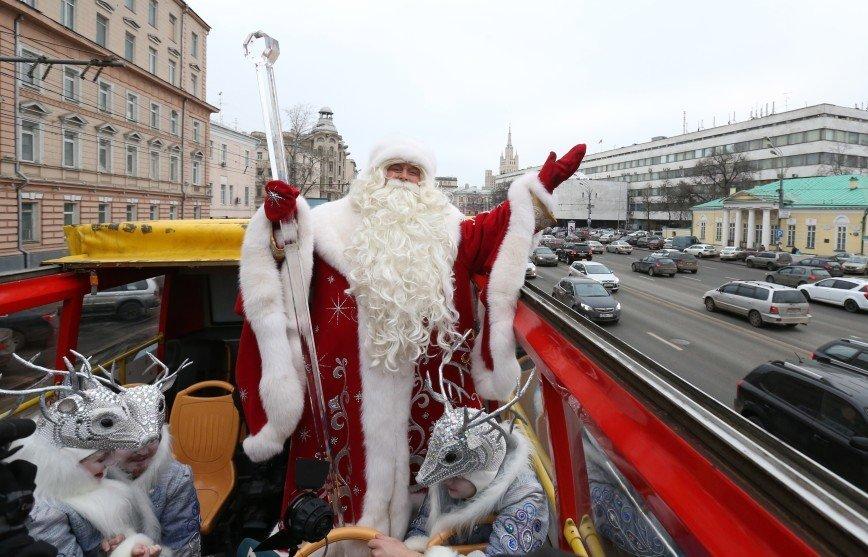 Всероссийский Дед Мороз планирует приехать в Москву 24 декабря