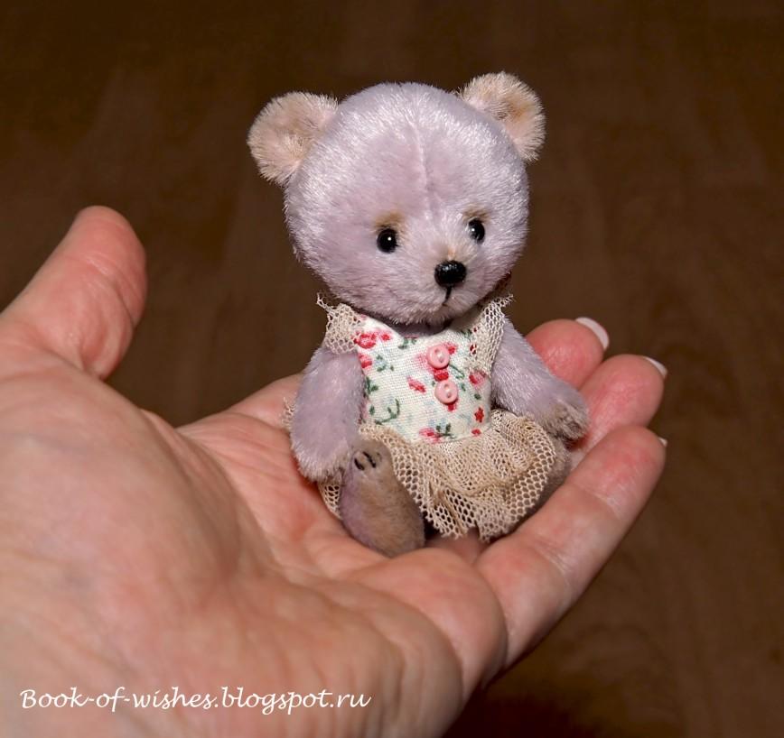 Мишка Мара, 8 см http://book-of-wishes.blogspot.ru/2015/10/mini-bear.html