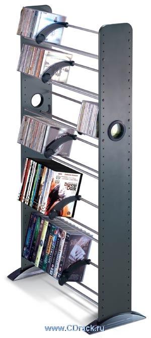 Продаю 2 стойки для дисков AVEC. Одна новая, в упаковке - 1800 руб, вторая б/у - 1000. Самовывоз. Хотелось бы продать обе сразу. Материал: МДФ, термопластик;  Цвет - темно-серый с отливом  Вместимость: 406 CD или 200 DVD или 100 VHS.  Размер: 1209х676х275
