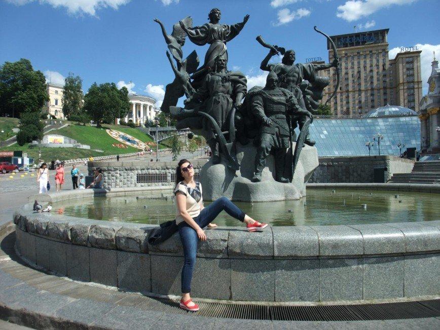 Киев, Майдан Незалежности, август 2017 год