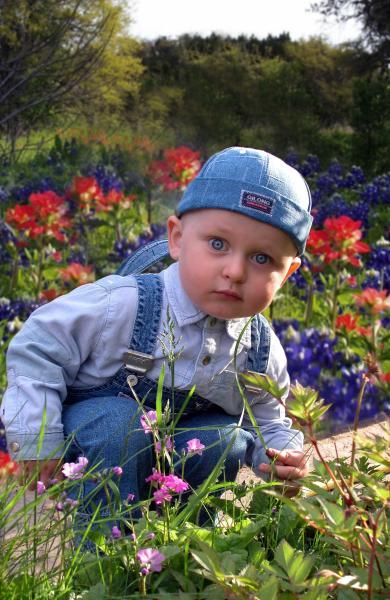 Мой сыночек-ЦВЕТОЧЕК   июнь 2005 (1 год и 8 месяцев)
