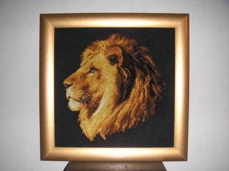 Долгожданный лев. Будущий подарок папе. вышивала 2 месяца. На сегодня самая моя большая гордость.