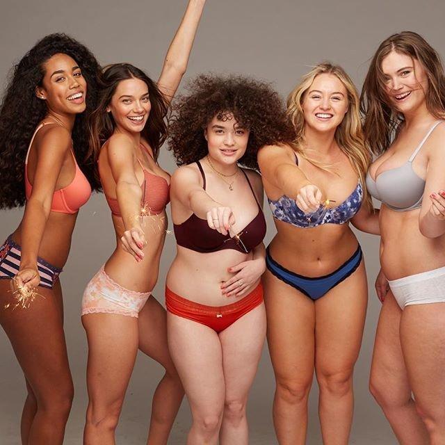 Реальные женщины в рекламе нижнего белья