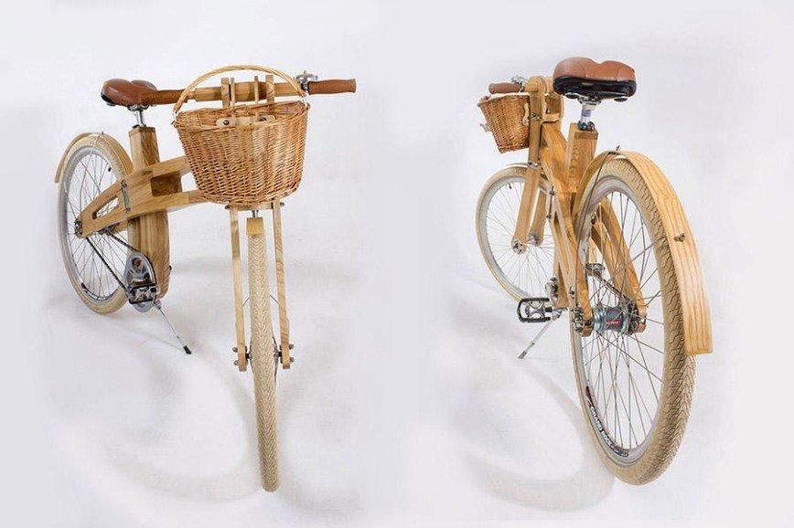 В Белоруссии начали производить деревянные велосипеды