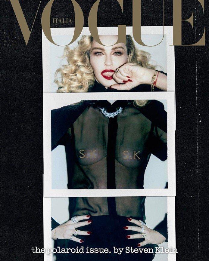Мадонна обнажила грудь для итальянского Vogue
