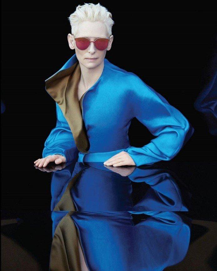 Тильда Суинтон выпустила коллекцию солнцезащитных очков
