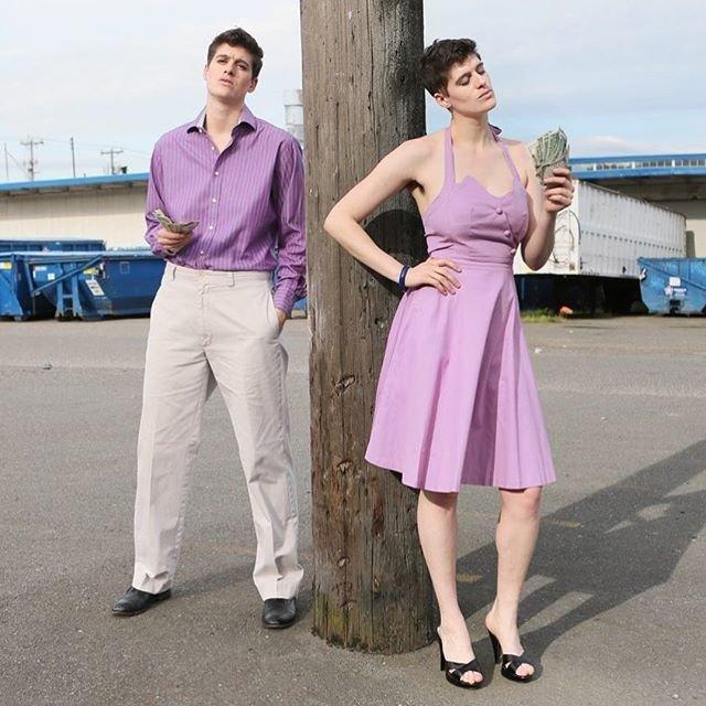 Женщина и мужчина: модель-андрогин Рейн Дав